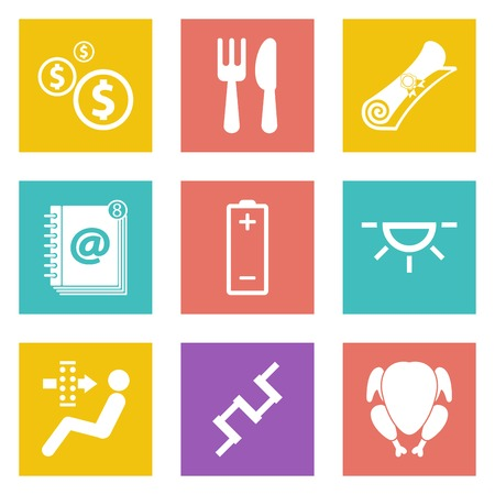 Color icons for Web Design and Mobile Applications set Vector