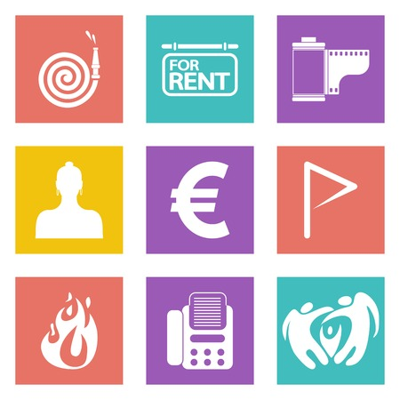 Icons for Web Design and Mobile Applications set Vector