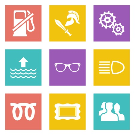 Color icons for Web Design and Mobile Applications set Stock Vector - 26775984