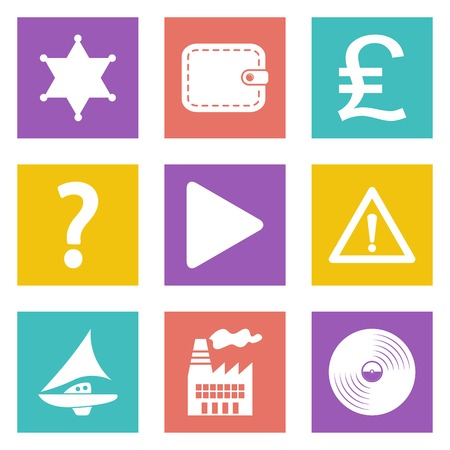 british money: Color icons for Web Design and Mobile Applications set