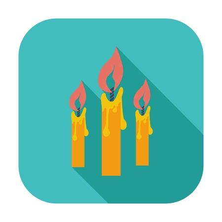 Candles single flat color icon illustration. Illustration