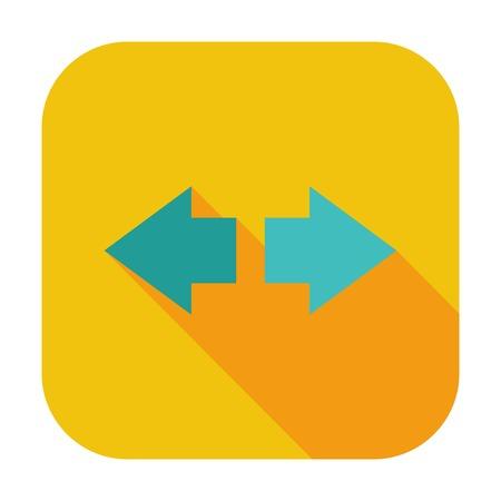Arrow single flat color icon illustration. Иллюстрация