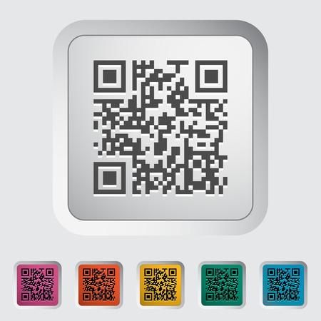 qrcode: QR code. Single color flat icon illustration.