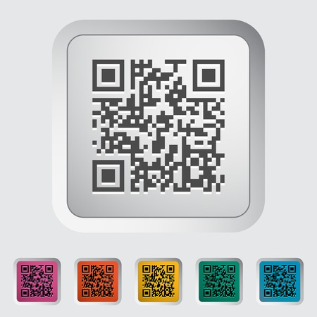 QR code. Single color flat icon illustration.