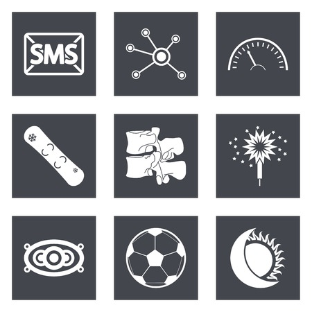 bengal light: Icons for Web Design and Mobile Applications set illustration.