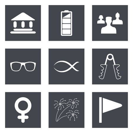 Icons for Web Design and Mobile Applications set  illustration. Vector