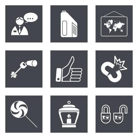 interlink: Icons for Web Design and Mobile Applications set  illustration. Illustration