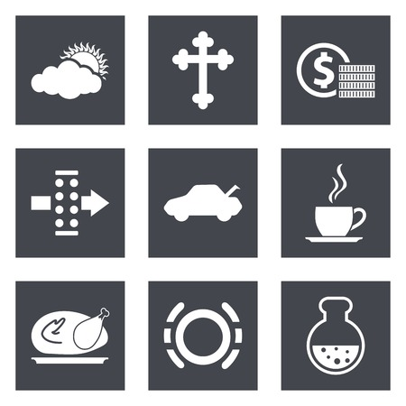 air filter: Icons for Web Design and Mobile Applications set  illustration. Illustration