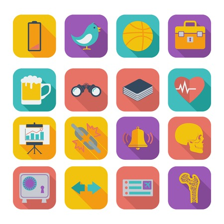 Color flat icons for Web Design and Mobile Applications illustration. Vector