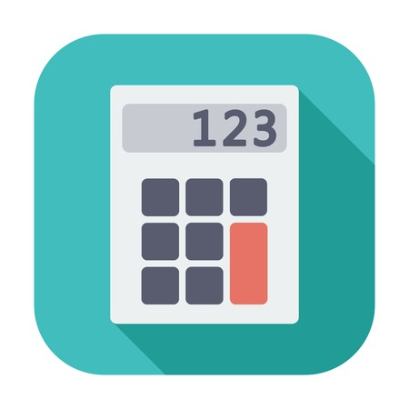 maths department: Calculator. Single flat color icon illustration. Illustration
