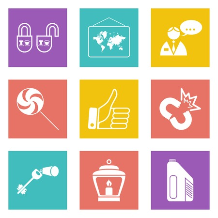 Color icons for Web Design and Mobile Applications set illustration. Vector