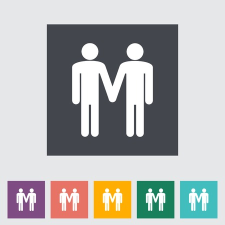 Gay sign. Single flat icon. Vector illustration. Vector
