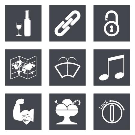 Pictogrammen voor Web Design en Mobile Applications 48. Vector illustratie.