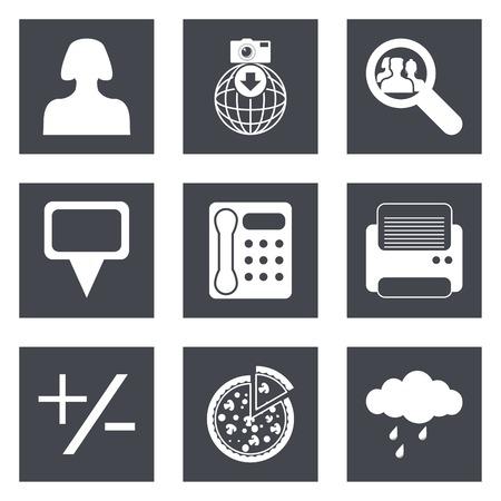 Pictogrammen voor Web Design en Mobile Applications set 49 Vector illustratie.