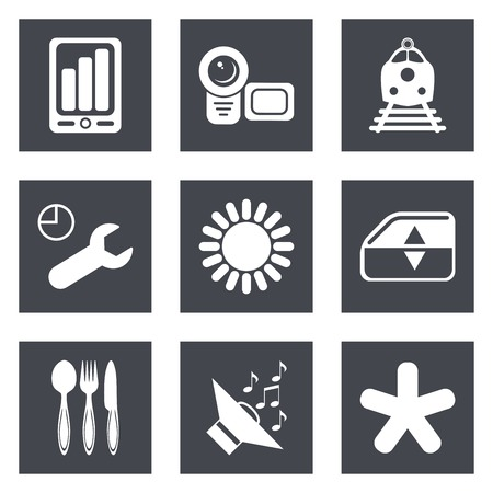 Icons for Web Design and Mobile Applications set 50. Vector illustration. Vector