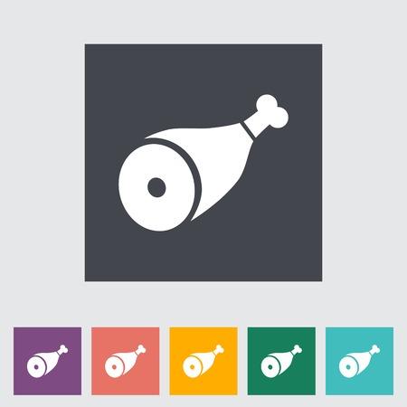haunch: Gammon. Single flat icon on the button.  Illustration