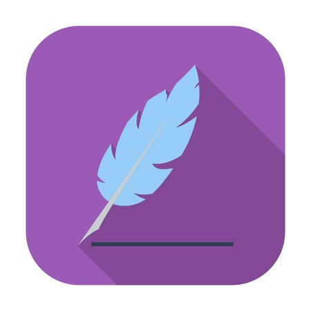 penman: Feather. Single flat color icon.