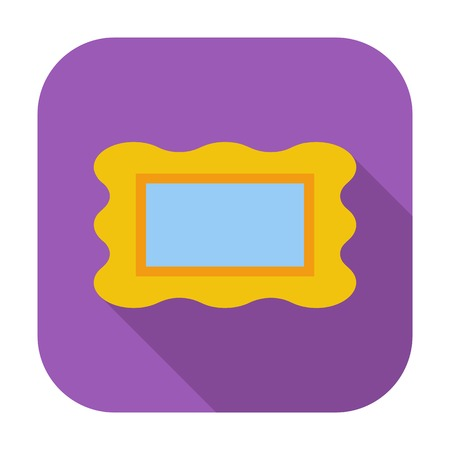 Picture frame. Single flat color icon.  photo