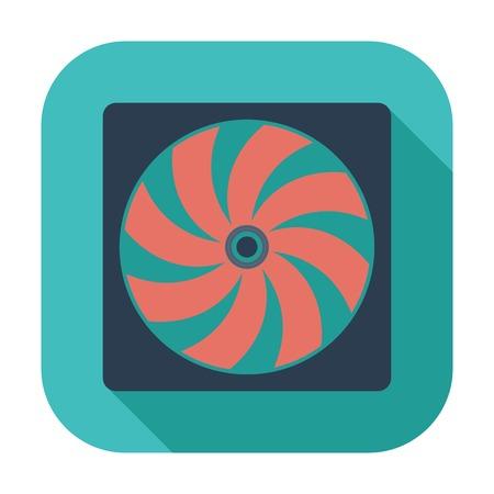 coolant temperature: Radiator fan flat icon