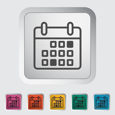 Calendar stroke icon Stock Vector - 30016567