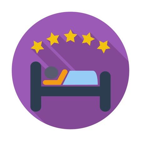 Hotel.. Single flat color icon.  Stock Vector - 30016600