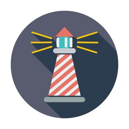Lighthouse. Single flat color icon.  Vector