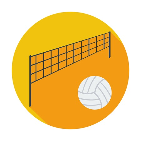 Volleyball. Single flat color icon. Vector