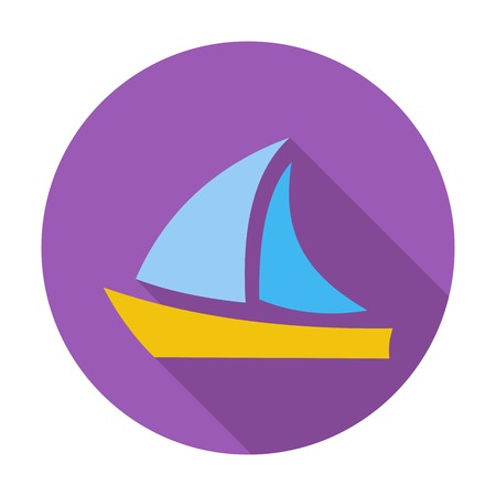 Yacht. Single flat color icon.