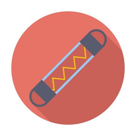 fusible: Automotive fuse. Single flat color icon. Vector illustration.