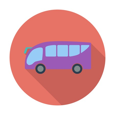 Bus. Single flat color icon. Vector illustration. Vector