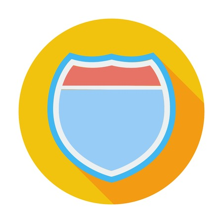 Road sign. Single flat color icon. Vector illustration. Vector