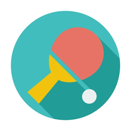 Table tennis. Single flat color icon. Vector illustration. Vector