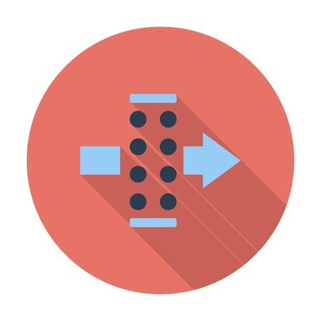 air filter: Air filter. Single flat color icon. Vector illustration. Illustration