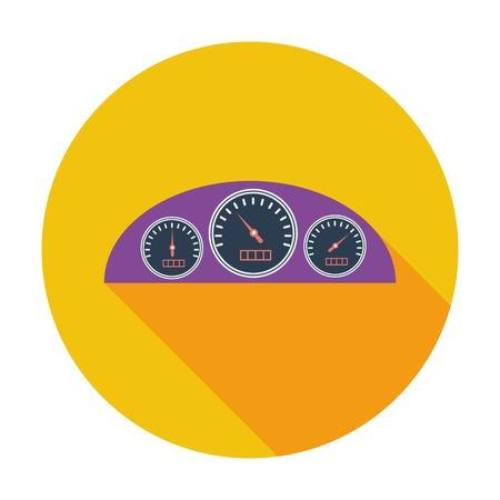 car dashboard: Dashboard. Single flat color icon. Vector illustration. Illustration