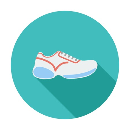 Shoes. Single flat color icon. Vector illustration. Vector