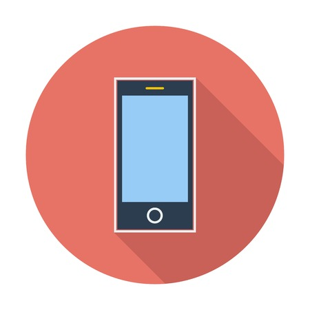 palmtop: Smartphone. Single flat color icon. Vector illustration.