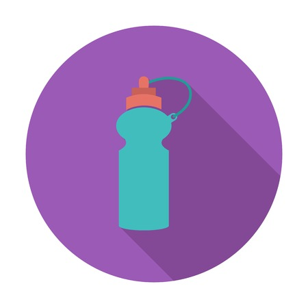 Sports water bottle. Single flat color icon. Vector illustration. Vector