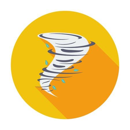 windstorm: Tornado. Single flat color icon. Vector illustration.