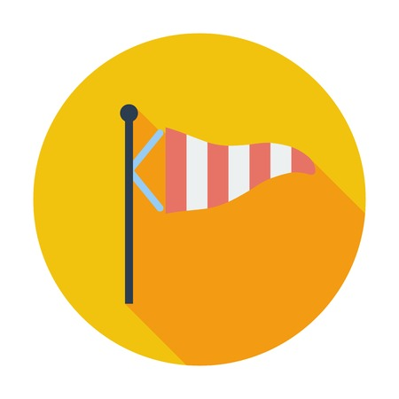 Wind Speed Flag. Single flat color icon. Vector illustration. Vector