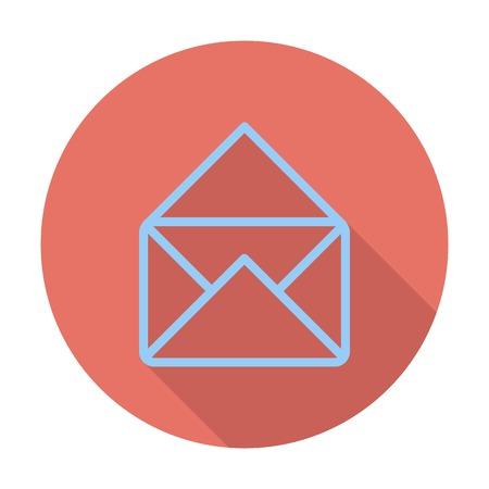 icona busta: Icona della busta. Vettoriali