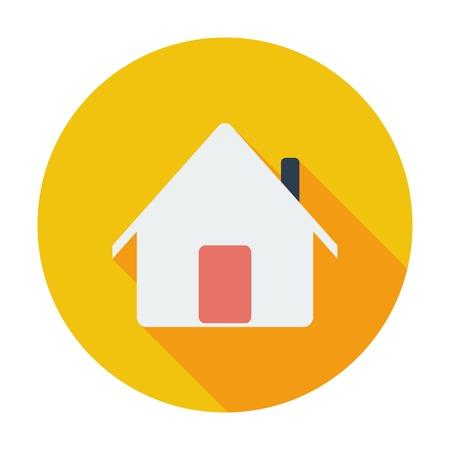 Home. Single flat color icon. Vector illustration. Vector