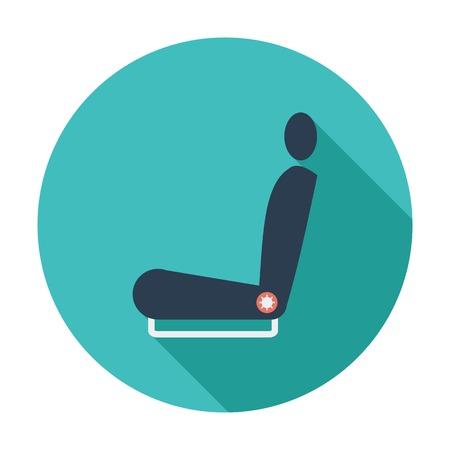 car seat: Icon seat. Illustration