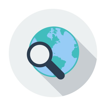 Global search single icon. Vector