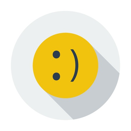 smiling: Smile icon. Illustration