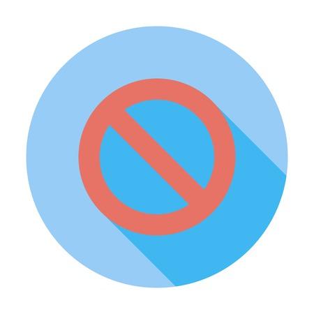 restrictive: Prohibition sign.
