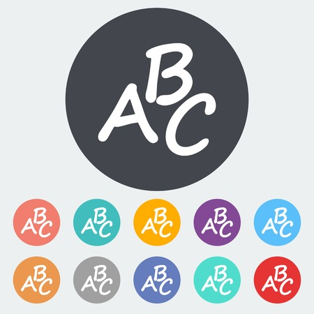 writing instruments: Alphabet icon symbols Illustration