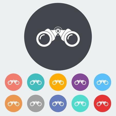 쌍안경 평면 아이콘 스톡 콘텐츠 - 31812702