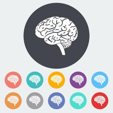 cerebro blanco y negro: Iconos cerebrales