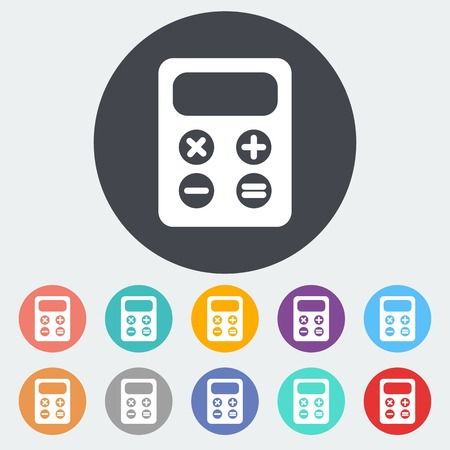maths department: Calculator icons Illustration