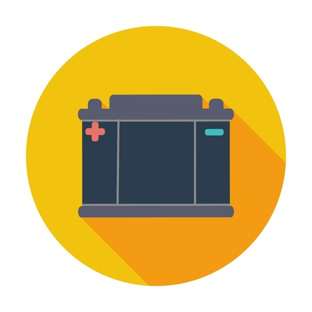 car battery: Battery flat icon.